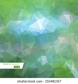 Abstract colorful polygonal background. Vector illustration eps10
