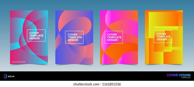 Abstract Colorful Pop Art Book Cover Design