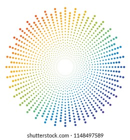 Abstract colorful rainbow dot pattern background - Vector illustration