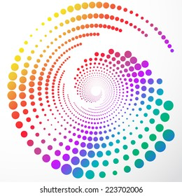 Abstract colorful rainbow swirly illustration, logo design
