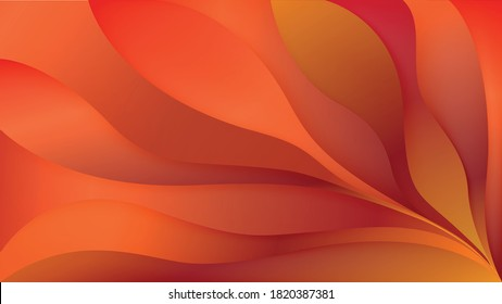 Abstract colorful random orange palm tree background illustration with gradient, futuristic geometric shape art for landing page, brochure, flyer, backdrop and banner design