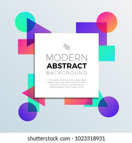 Abstract Colorful Shapes Banner Background