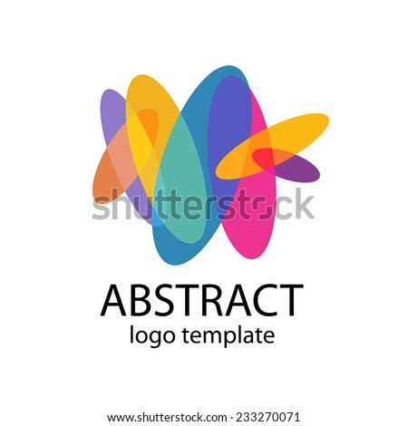vetor stock de abstract colorful shapes logo template flat livre de