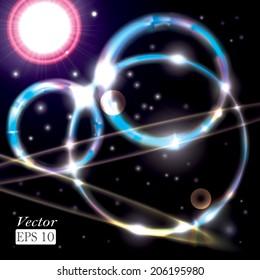 Abstract colorful shining circles