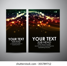 Abstract colorful shining line. Graphic resources design template. Vector illustration