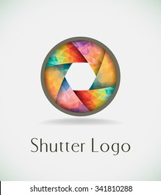 Abstract colorful shutter.Vector illustration.