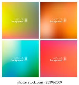 Abstract colorful smooth blurred  vector backgrounds for design