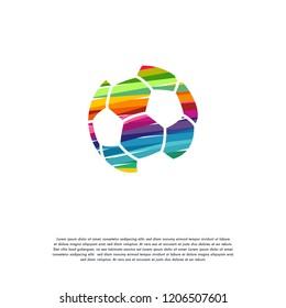 Abstract Colorful Soccer Ball logo vector, Football logo designs template
