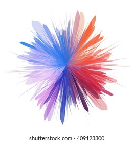 Abstract colorful splash background. Vector illustration.