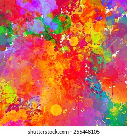 Abstract colorful splash background. Watercolor background illustration.