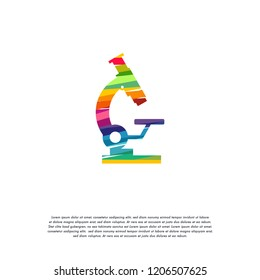 Abstract Colorful Stethoscope logo vector, Science logo designs template