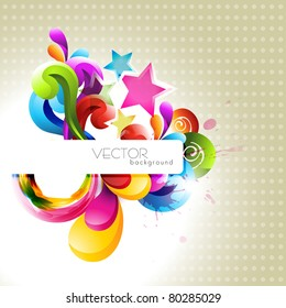 abstract colorful stylish vector design art