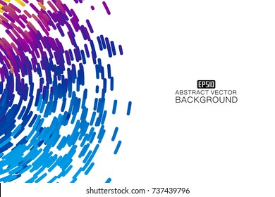 Abstract colorful swirl shape illustration, design element.
