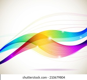 Abstract colorful template background, Brochure design with beautiful wave, VECTOR