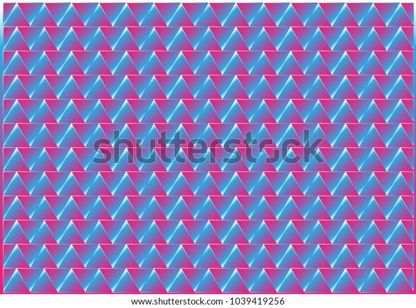 Abstract Colorful Triangle Background - Illustration Geometric Shape, Textile, Tile, Banner - Sign, Backdrop, Wallpaper