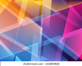 Abstract colorful triangle geometric  background. Shards of broken glass. Vector illustration