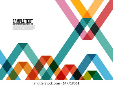 Abstract Colorful Triangle Pattern.  Background , Cover , Layout , Magazine, Brochure , Poster , Website , Name card , etc.