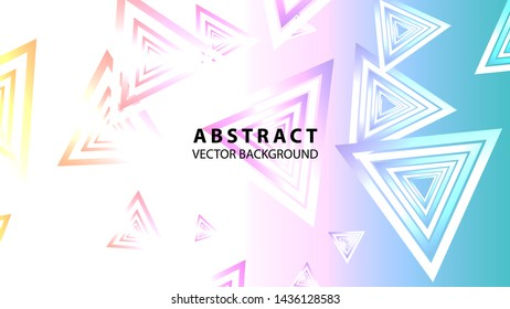 Abstract colorful triangular background with gradient color - Vector