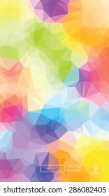 Abstract colorful triangular low poly style vector background,Vector illustration