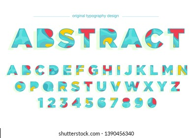 Abstract colorful typography design font