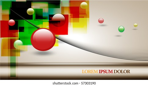abstract colorful vector bacground design.