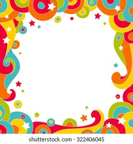 Abstract colorful vector background. Place for text. Vector illustration
