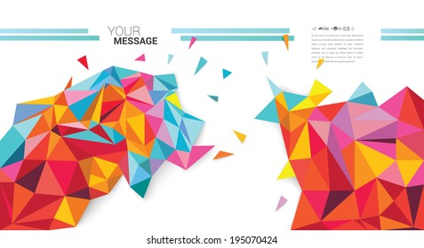 Abstract colorful vector background for your desing.