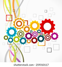 Abstract colorful vector illustration of synergy concept