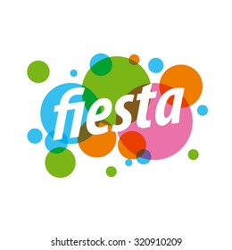 Abstract colorful vector logo for fiesta