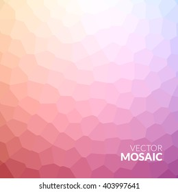 Abstract colorful voronoi mosaic wallpaper texture in vector.