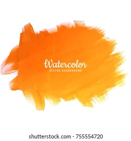 Abstract colorful watercolor stroke design vector