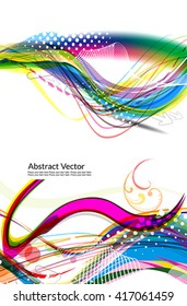 abstract colorful wave background set vector illustration