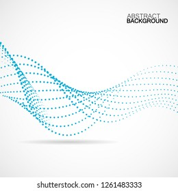 Abstract colorful wave of dotted lines. Vector