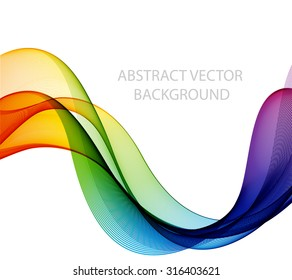 Abstract colorful waves. The colors of the rainbow