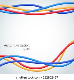 Abstract colorful wire background. Vector illustration.