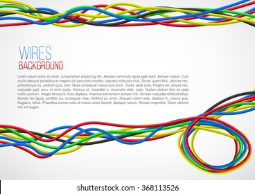 Abstract Colorful Wire Background. Vector Illustration