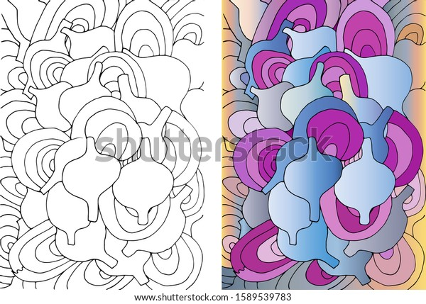 Abstract Coloring Book Adults Pattern Jars Stock Vector (Royalty Free)  1589539783
