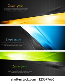 Abstract colourful banners. Vector design eps 10