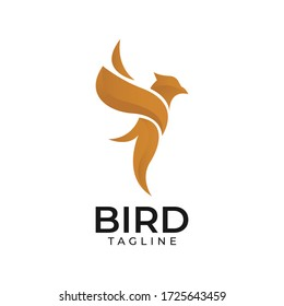 Abstract colourful bird logo design template vector