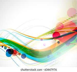 abstract colourful circle wave line background.