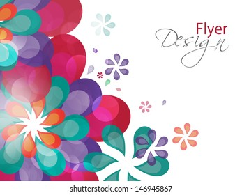 Abstract Colourful floral with ornamental design. Eps 10