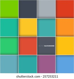 Abstract colourful vector background with squares for your design