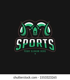 Abstract colourfull  goat head sport logo design template