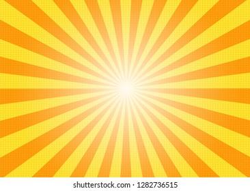 Abstract Comic Cartoon Sunlight and Summer Background. Vector Illustration Design.