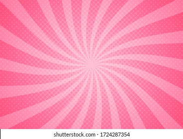 abstract comic pink background cartoon style. sunlight. vector illustration.