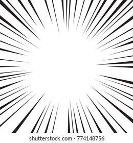 Abstract comic speed radial background