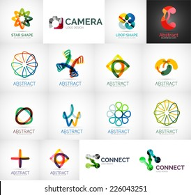 Abstract company logo vector collection - modern various business corporate logotypes