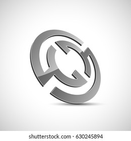 Abstract company symbol. Logo design template.
