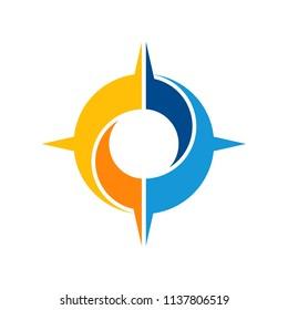 Abstract Compass Logo