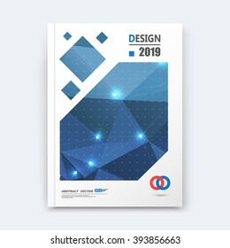 Abstract composition, blue font texture, shiny perforated dots construction, white light points, a4 brochure title sheet, creative figure icon, commercial logo surface, firm banner form, flier fiber